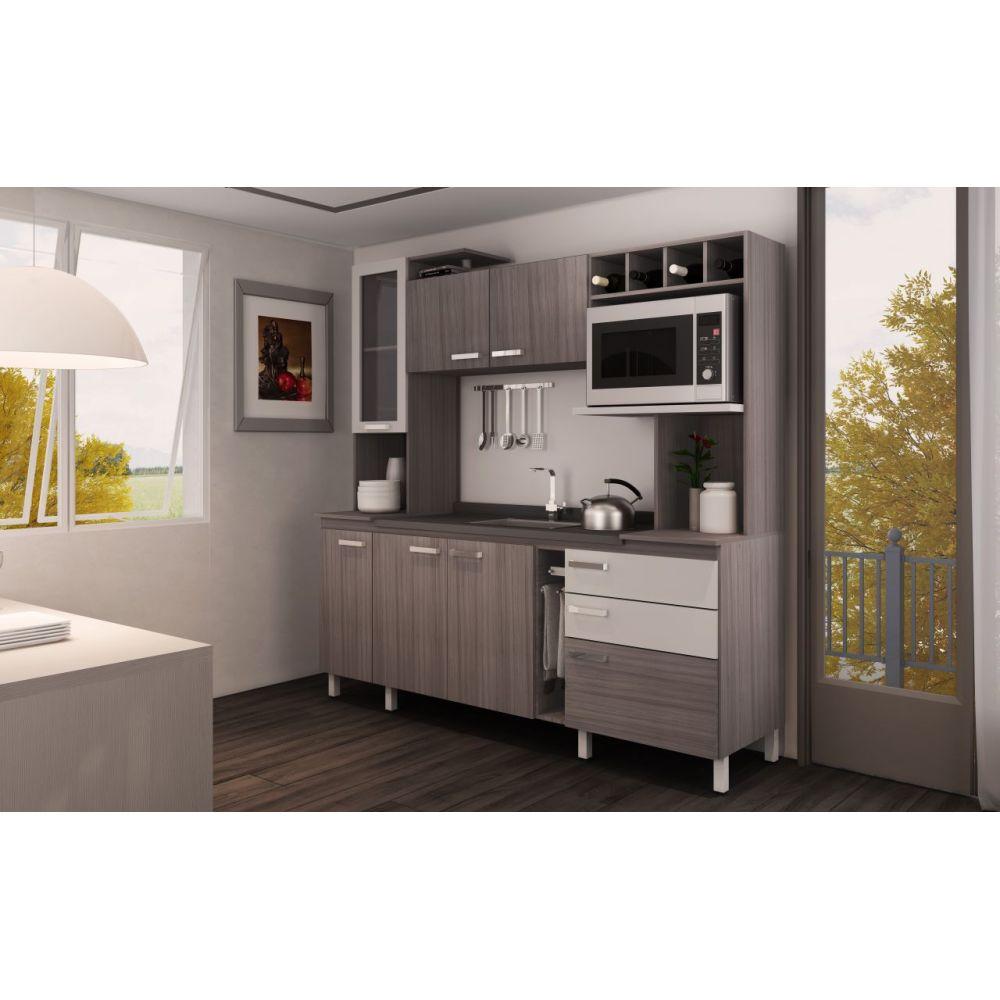 Cozinha Compacta Aurora  Móveis Sul  LojasCertel # Cozinha Compacta Moveis Sul